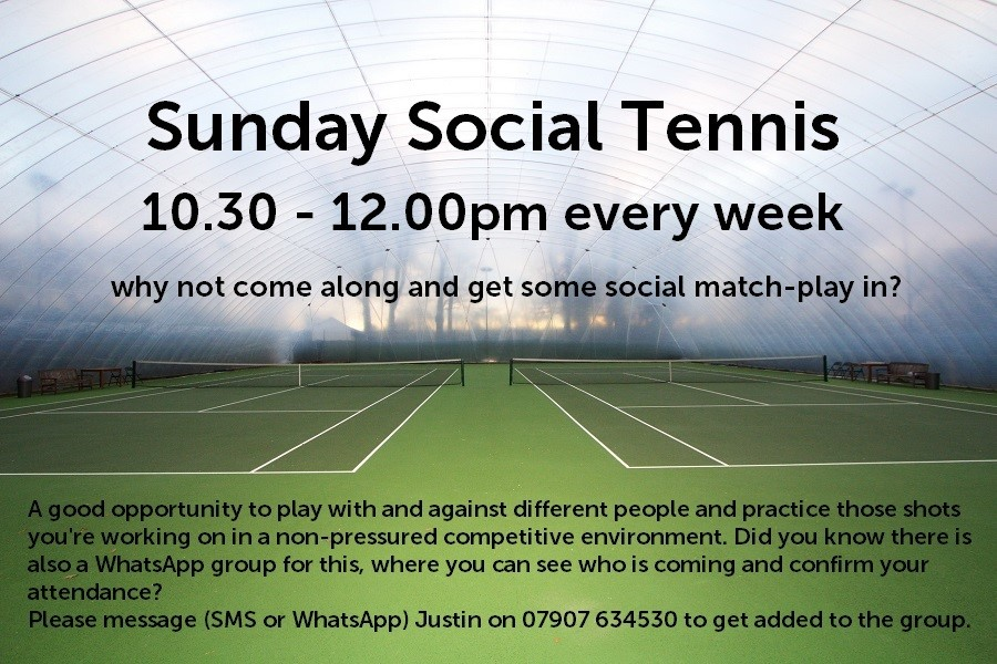 Sunday Social Tennis