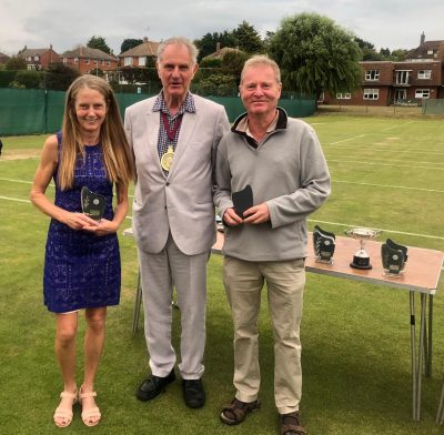 Lynn and Richard Sexton – Runners up in the 55 or Over Mixed Doubles