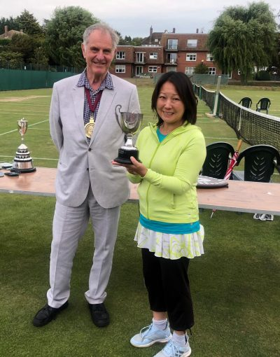 Takako Woods – Captain of Mixed C Team with the Mixed Division Five Winners Cup